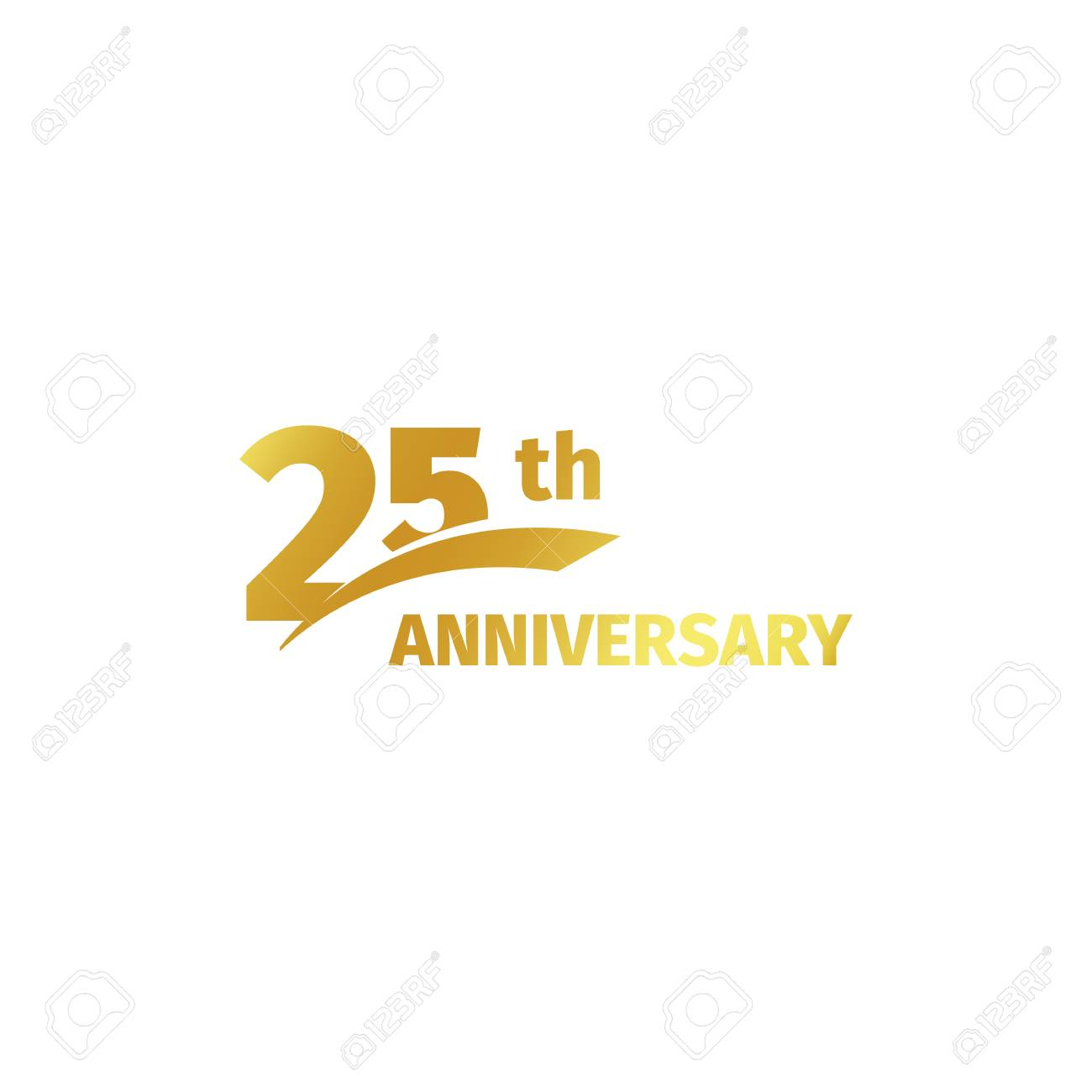 isolated abstract golden 25th anniversary logo on white background rh 123rf com 25th Business Anniversary Golf Logo 25 Th Anniversary