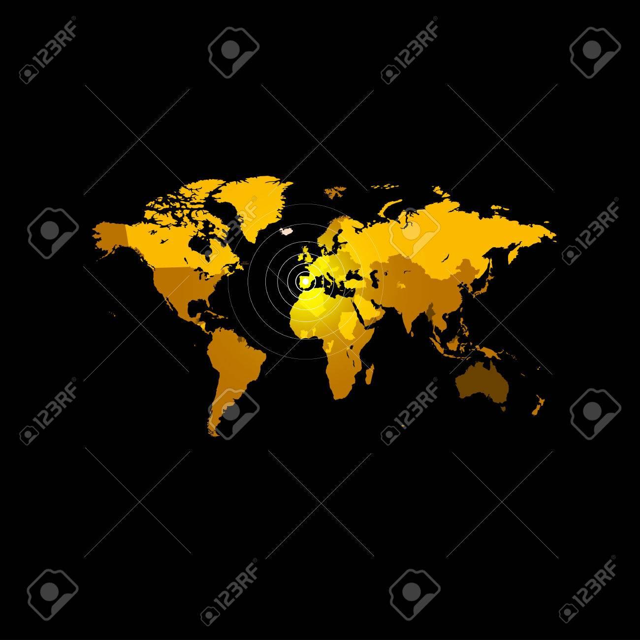 Orange color world map on black background globe design backdrop orange color world map on black background globe design backdrop cartography element wallpaper gumiabroncs Gallery