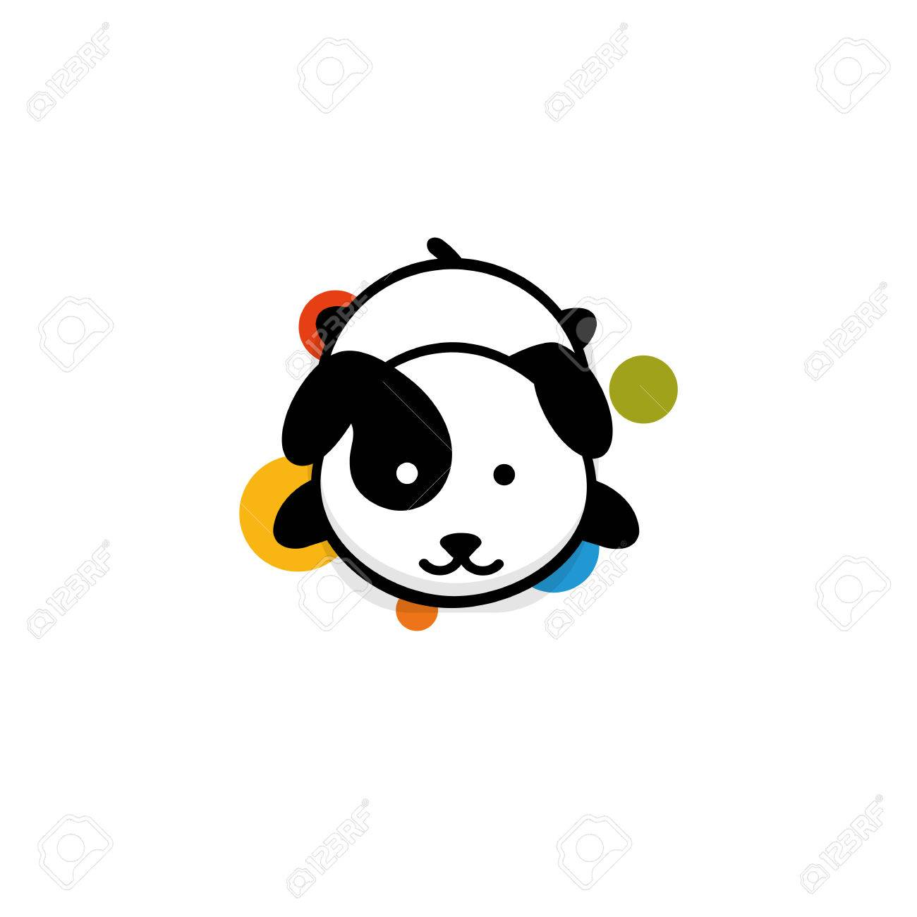 Cute Dog Rest Lying Down Vector Illustration Baby Puppy Logo Royalty Free Cliparts Vectors And Stock Illustration Image 80443728