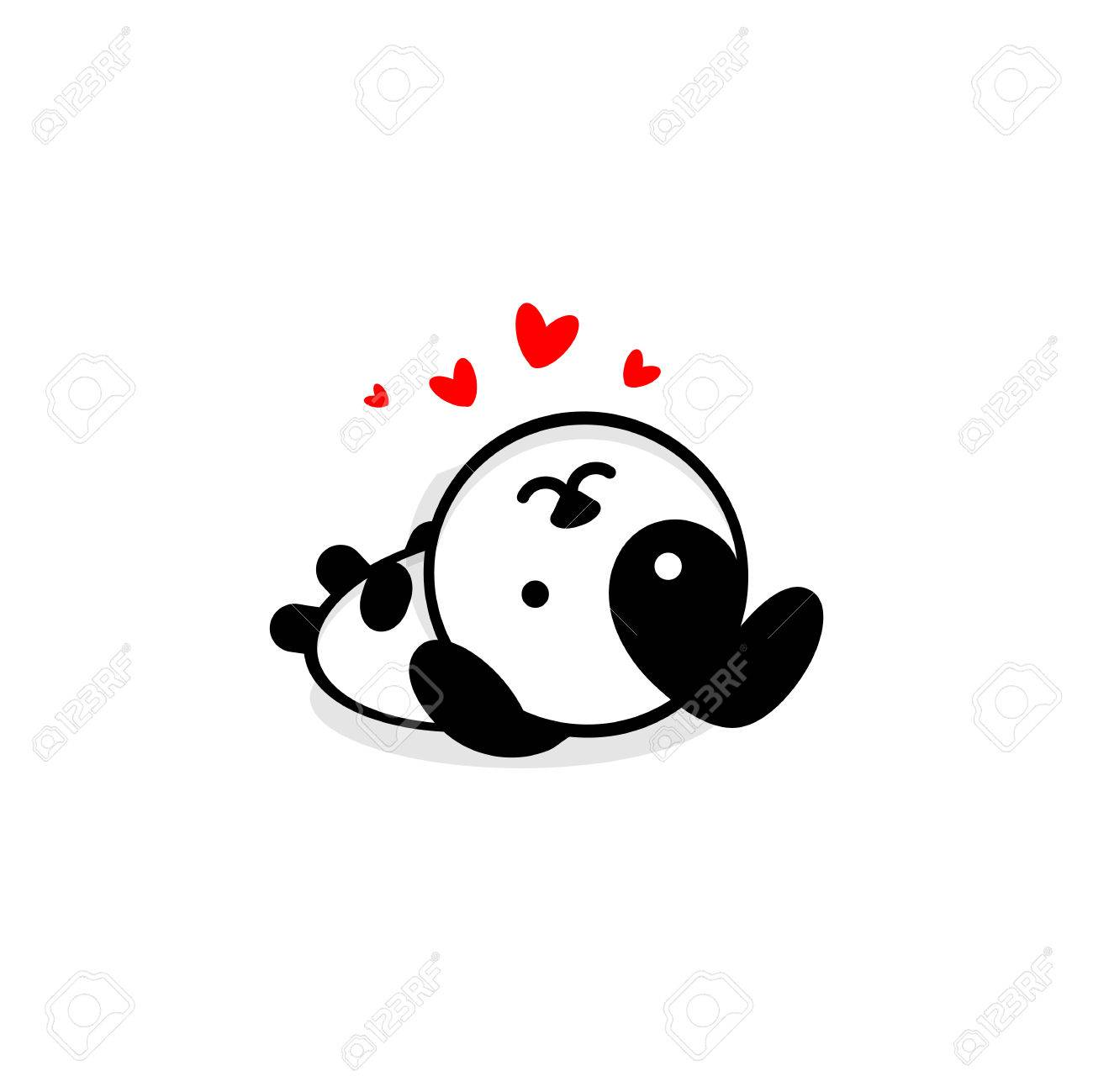 Cute Dog In Love And Rest Vector Illustration Baby Puppy Logo Royalty Free Cliparts Vectors And Stock Illustration Image 80443772