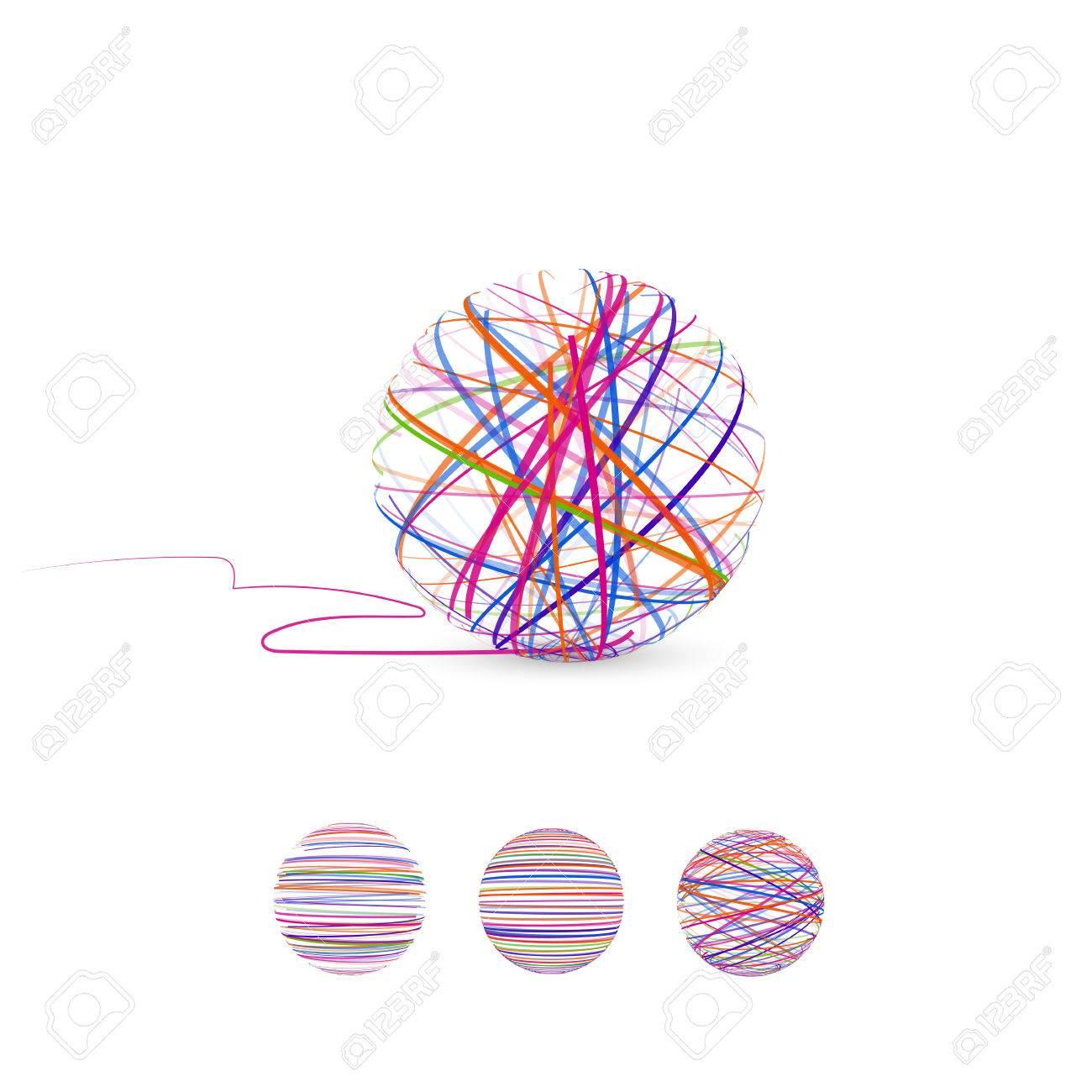 Tangle Vector Illustration Ball Of Thread For Knitting Royalty Free Cliparts Vectors And Stock Illustration Image 82257662