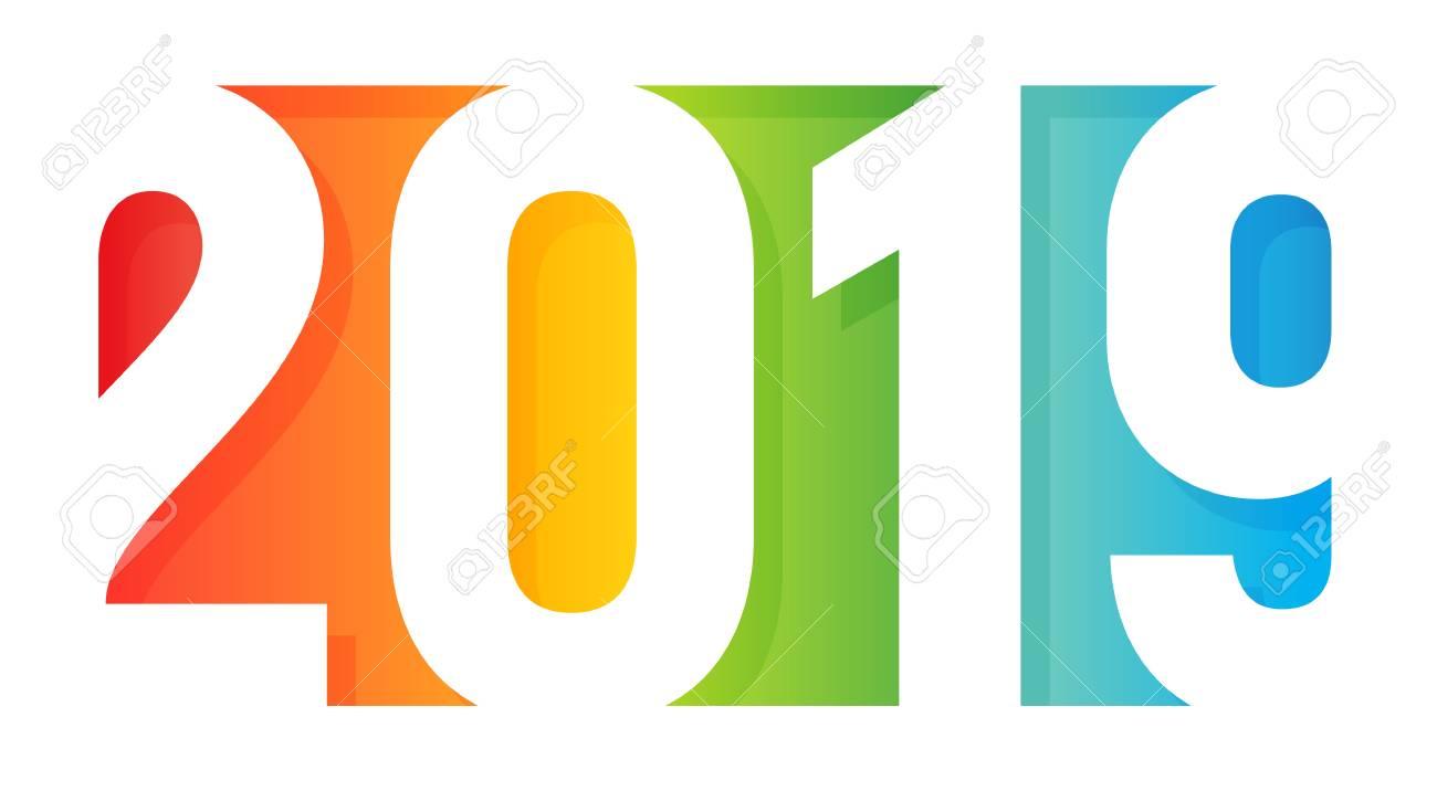 Happy New Year Logo 2019 56
