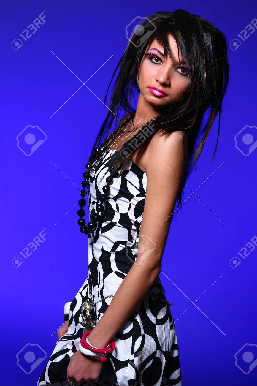 emo girl with beautiful hair Stock Photo - 4334950