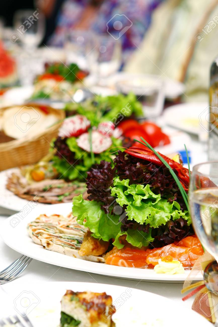 fresh and tasty food on the table Stock Photo - 7850748