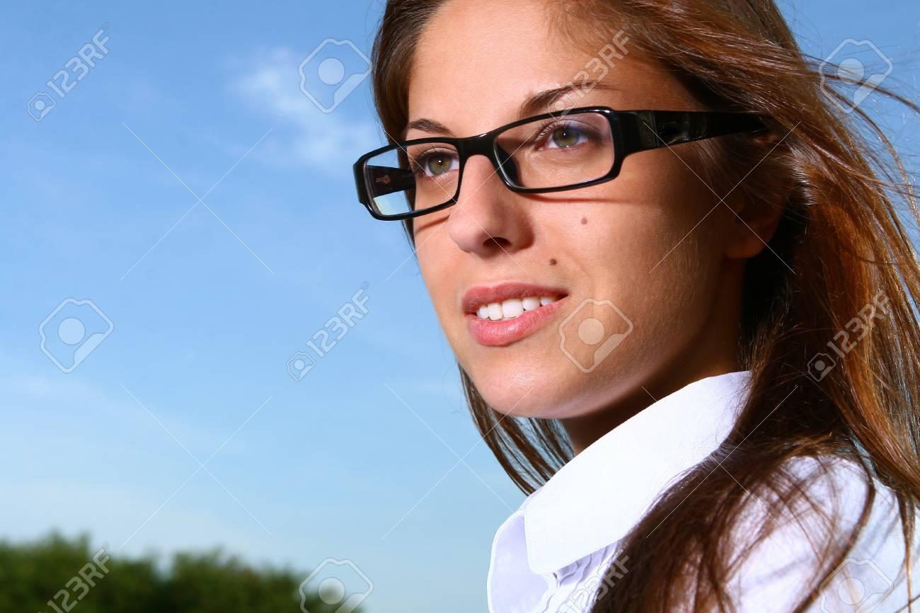 a beautiful young woman studing Stock Photo - 8361880