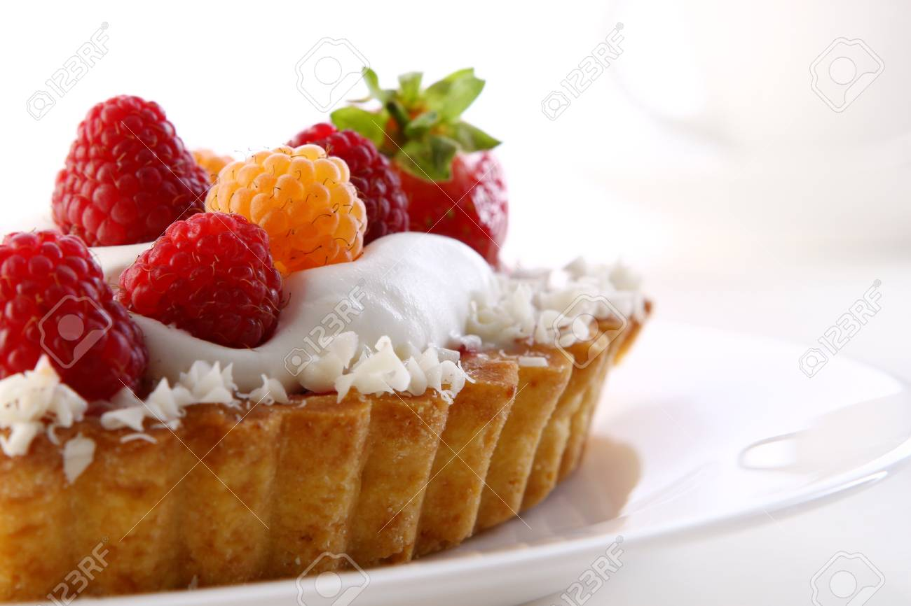 a dessert fruitcake cake with blueberry Stock Photo - 8312554