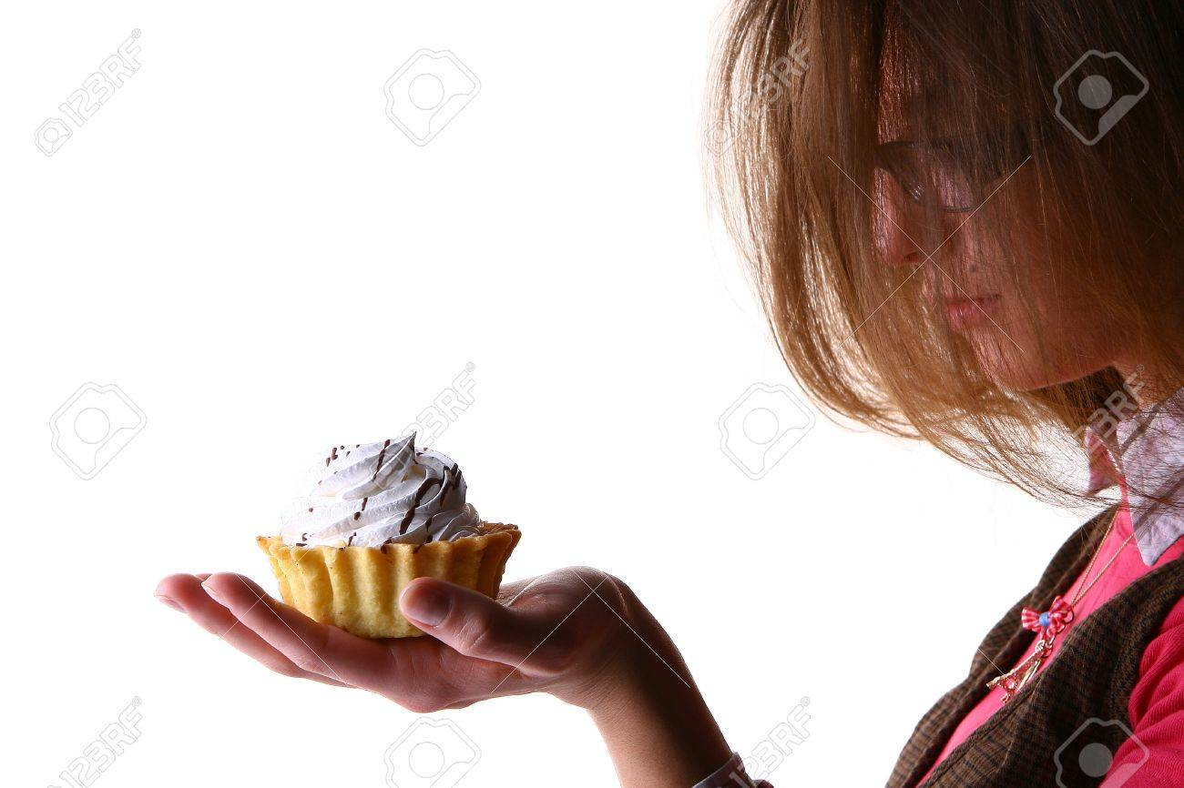 womans hand with fruitcake Stock Photo - 8330851