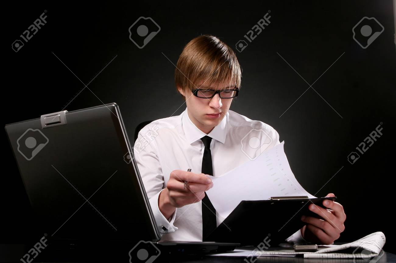 business man young and attractiv Stock Photo - 8673575