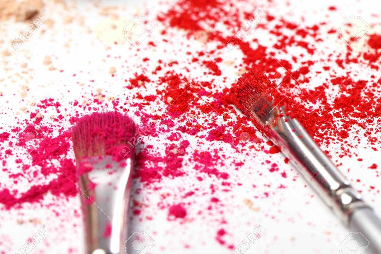 Close up of crumbled colorful eyeshadows Stock Photo - 10883653