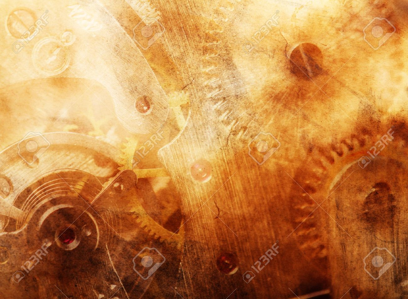 Background of ancient mechanism Stock Photo - 11025240
