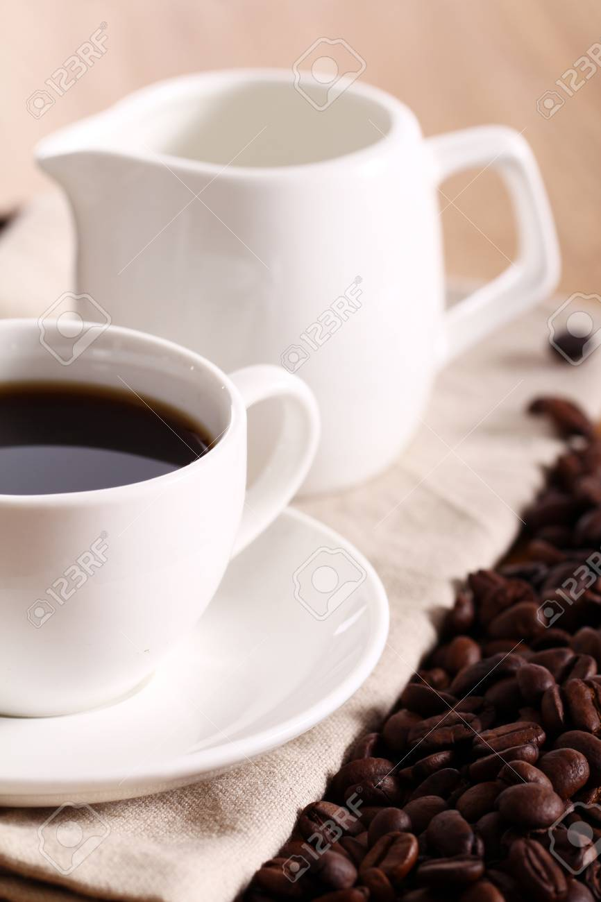 Cup of hot black coffe Stock Photo - 13800505