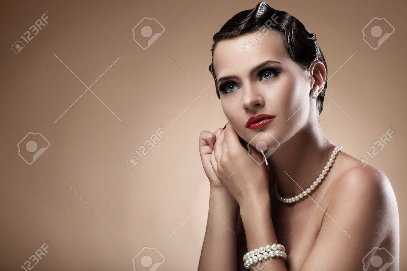 Portrait of beautiful woman in vintage image Stock Photo - 14520051