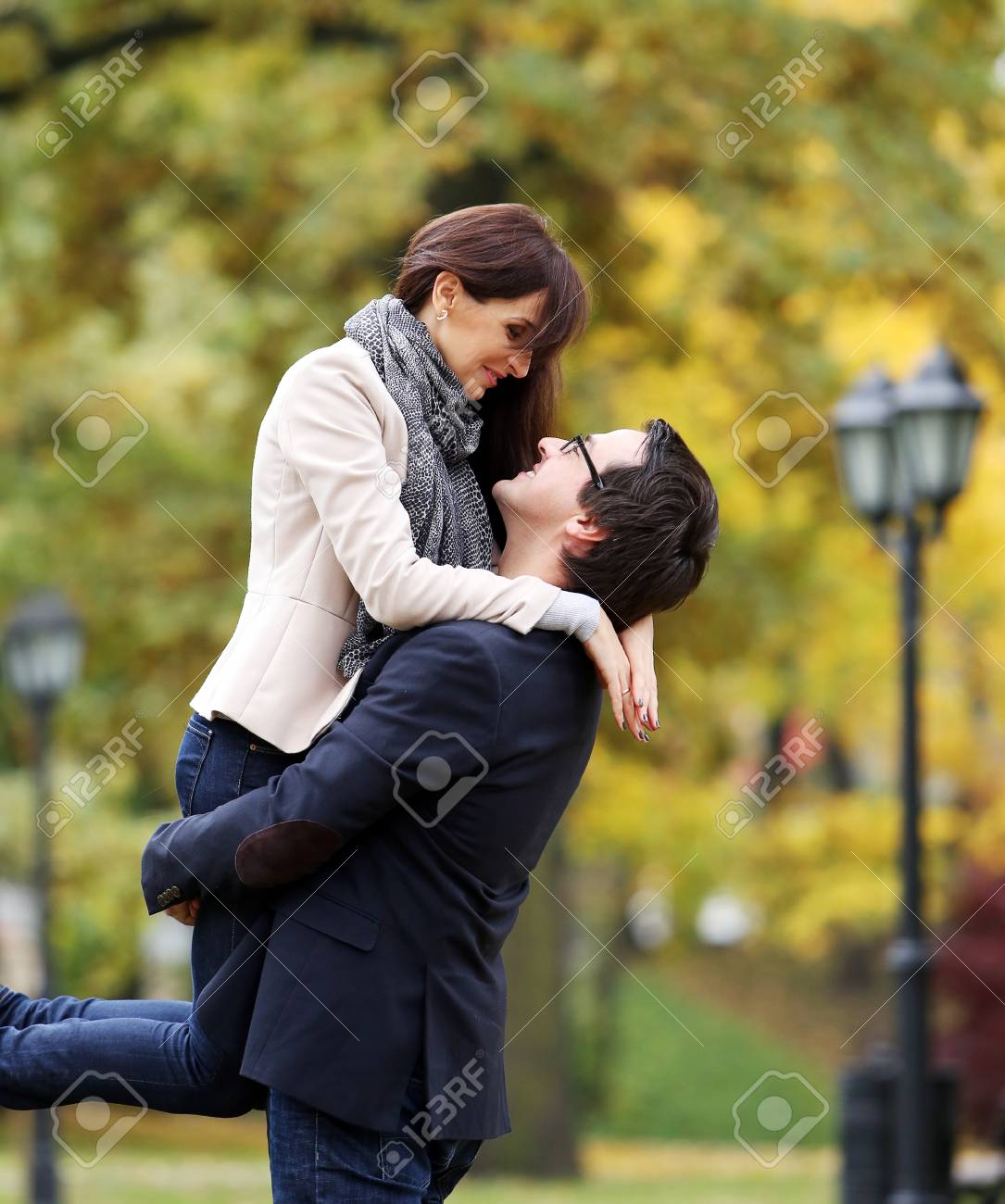 Adult couple having fun in the park Stock Photo - 25878930