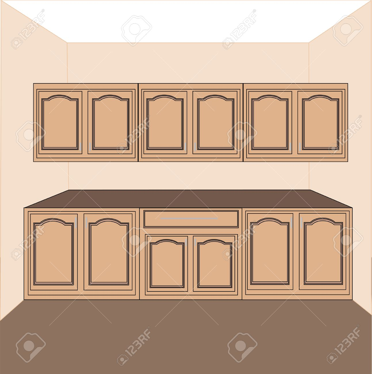 Cartoon kitchen counter gallery - Cartoon Kitchen Counter Kitchen Countertop Kitchen Laundry Cabinets Vector