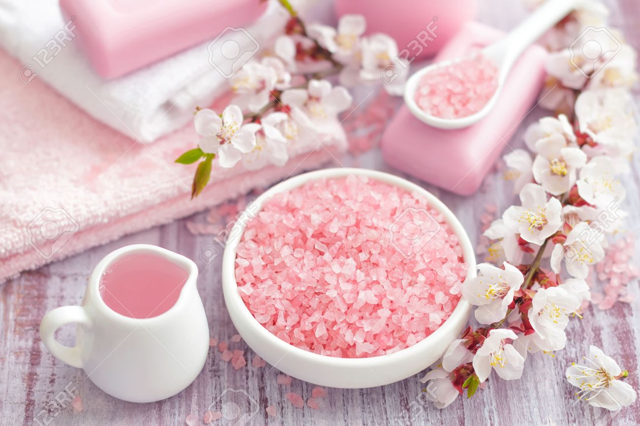 Spa with pinks concept - 26323858