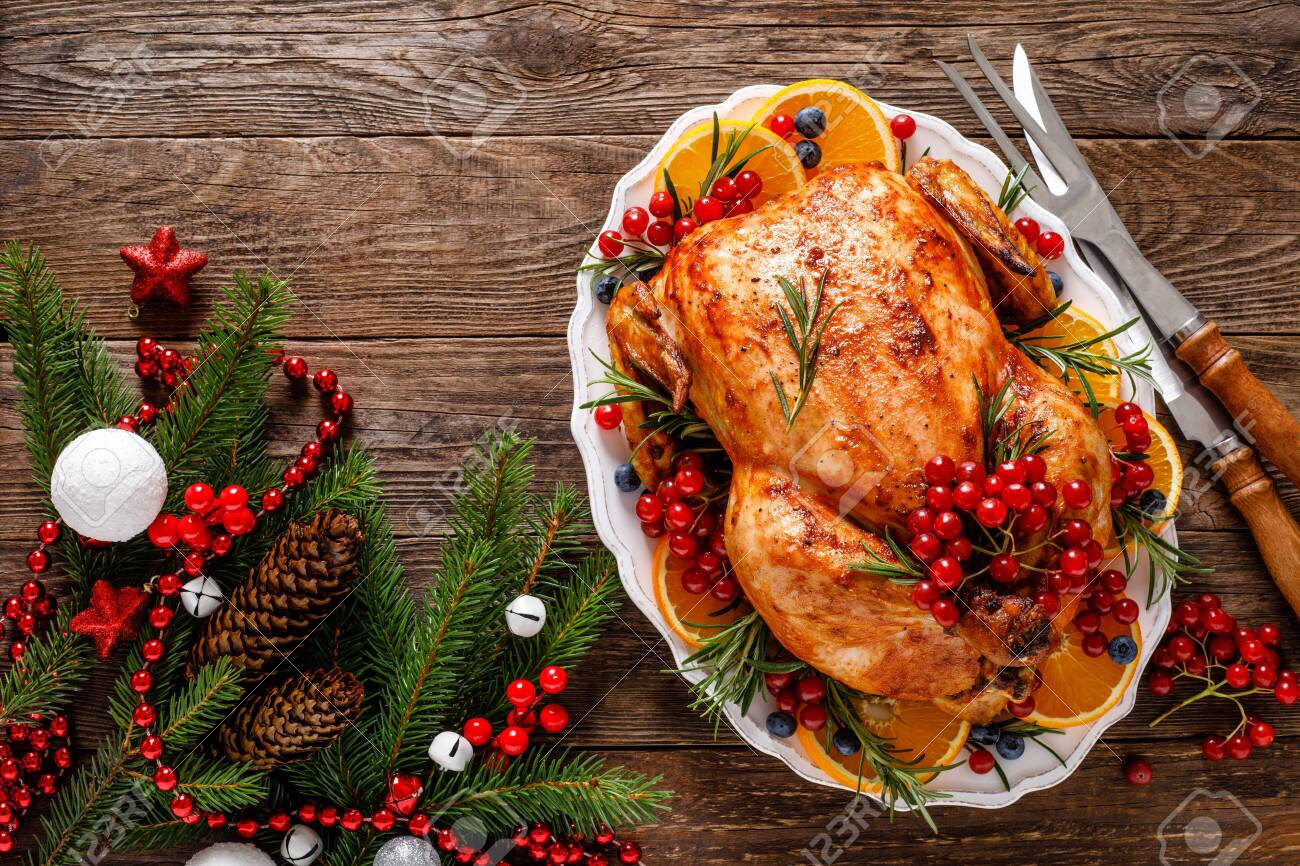 Christmas turkey - Traditional festive food for Christmas