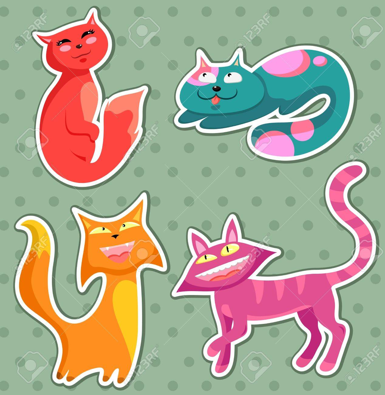 collection of cartoon cats Stock Vector - 14395482