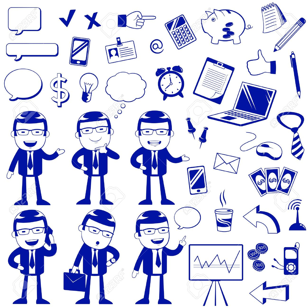 set of icons related to business and finance Stock Vector - 20406422