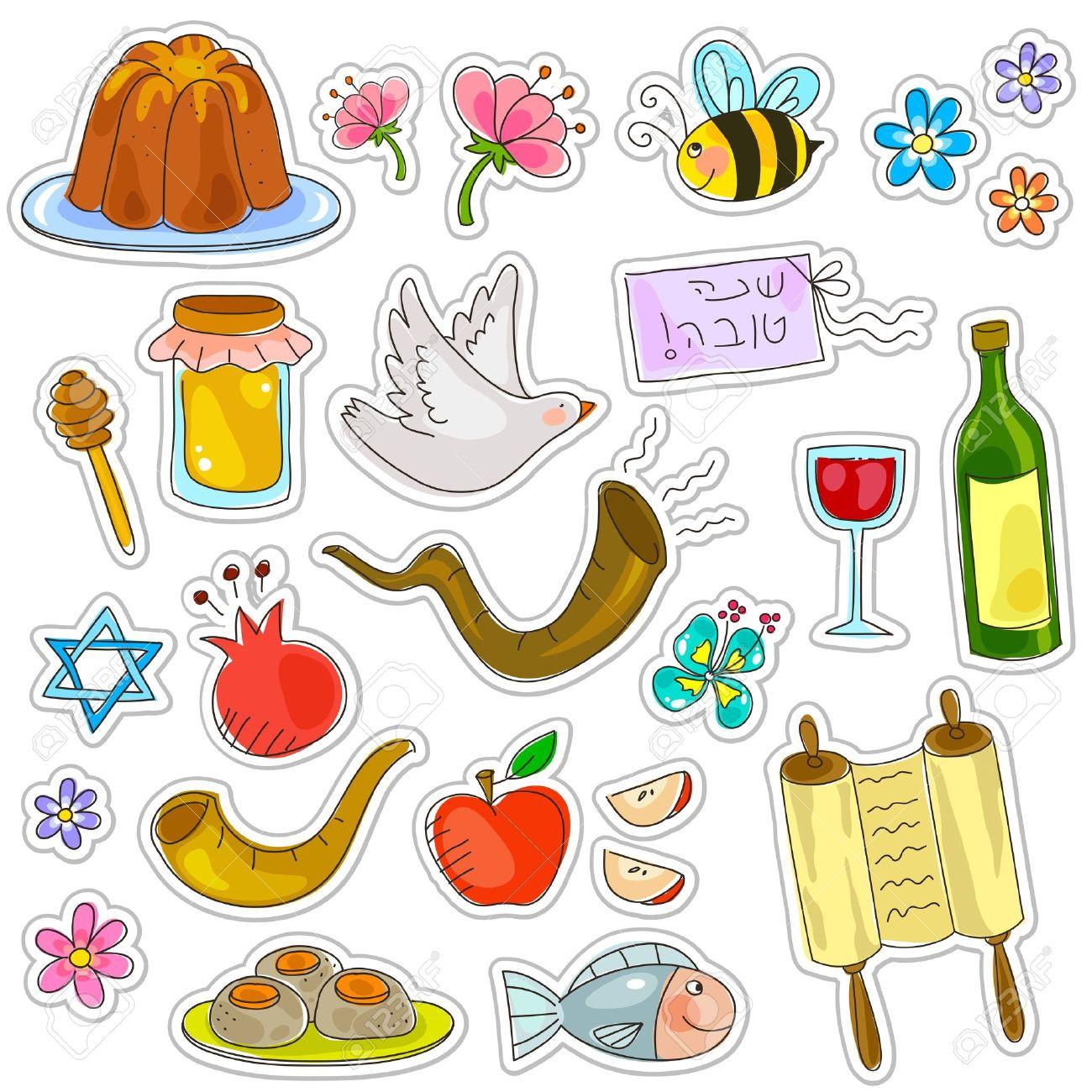 Symbols of rosh hashanah jewish new year royalty free cliparts symbols of rosh hashanah jewish new year stock vector 20744296 biocorpaavc