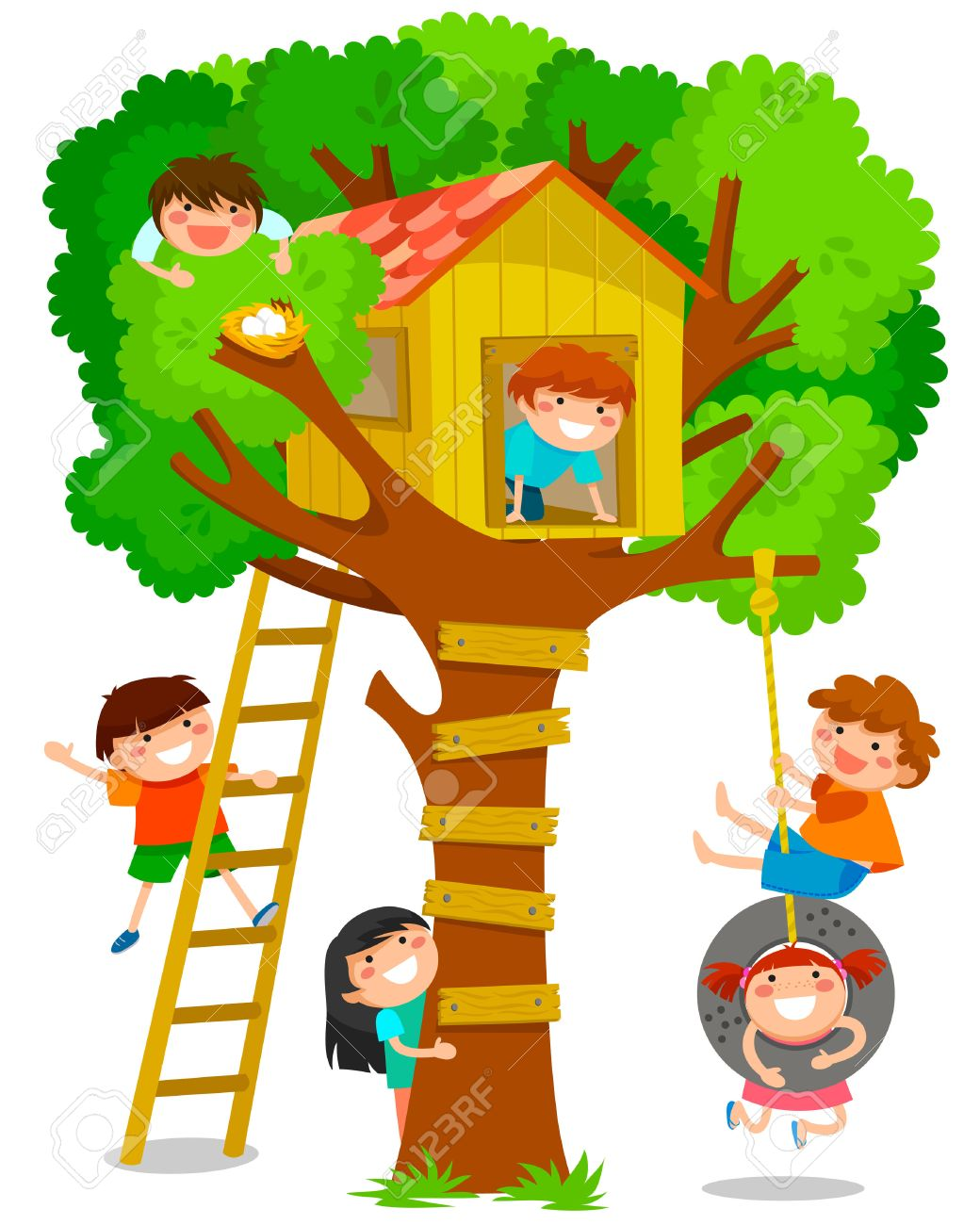 94 987 tree house cliparts stock vector and royalty free tree house rh 123rf com treehouse clipart free image tree house clipart