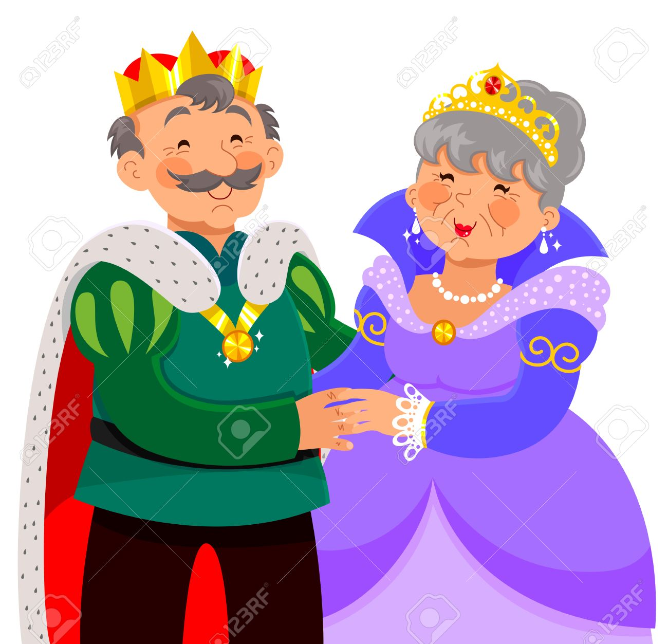 Clip Art King And Queen Clipart elderly king and queen hugging happily royalty free cliparts vector happily