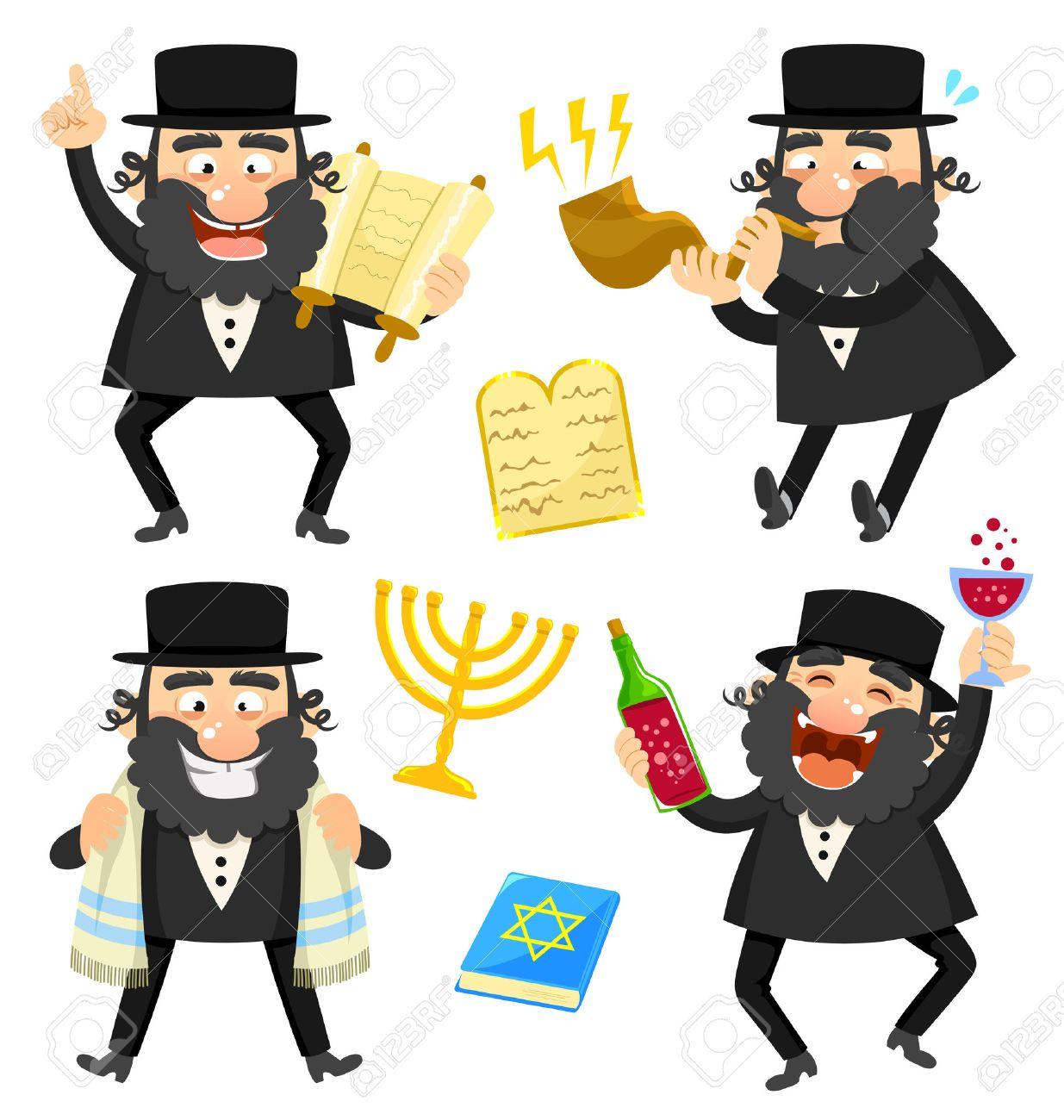 Set of cartoon rabbis and jewish symbols royalty free cliparts set of cartoon rabbis and jewish symbols stock vector 41670960 biocorpaavc