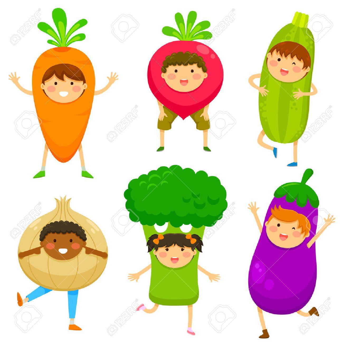 children dressed like vegetables - 41984469