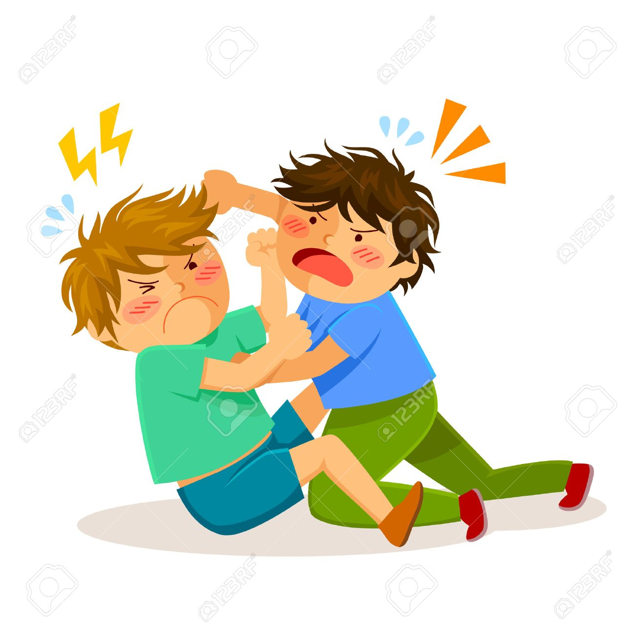 Two Boys Hitting Each Other On A Fight Royalty Free Cliparts, Vectors, And  Stock Illustration. Image 58032487.