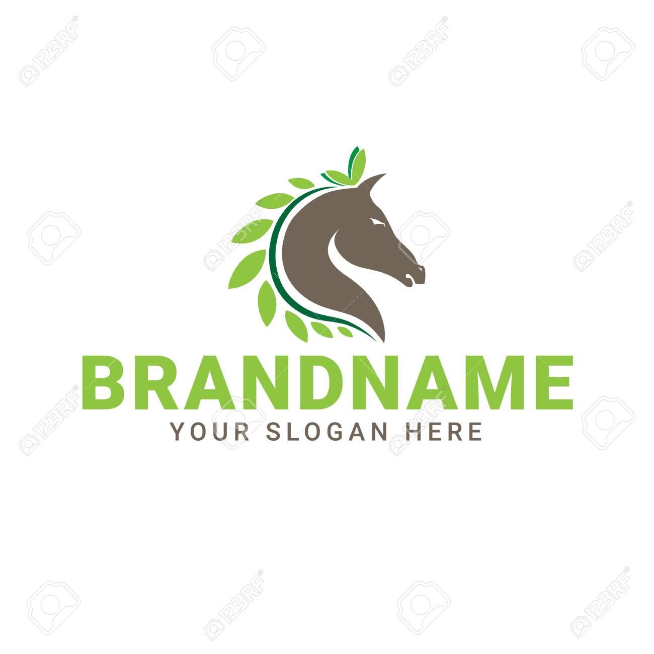 Creative Natural Horse Logo Design Vector Royalty Free Cliparts Vectors And Stock Illustration Image 150618023