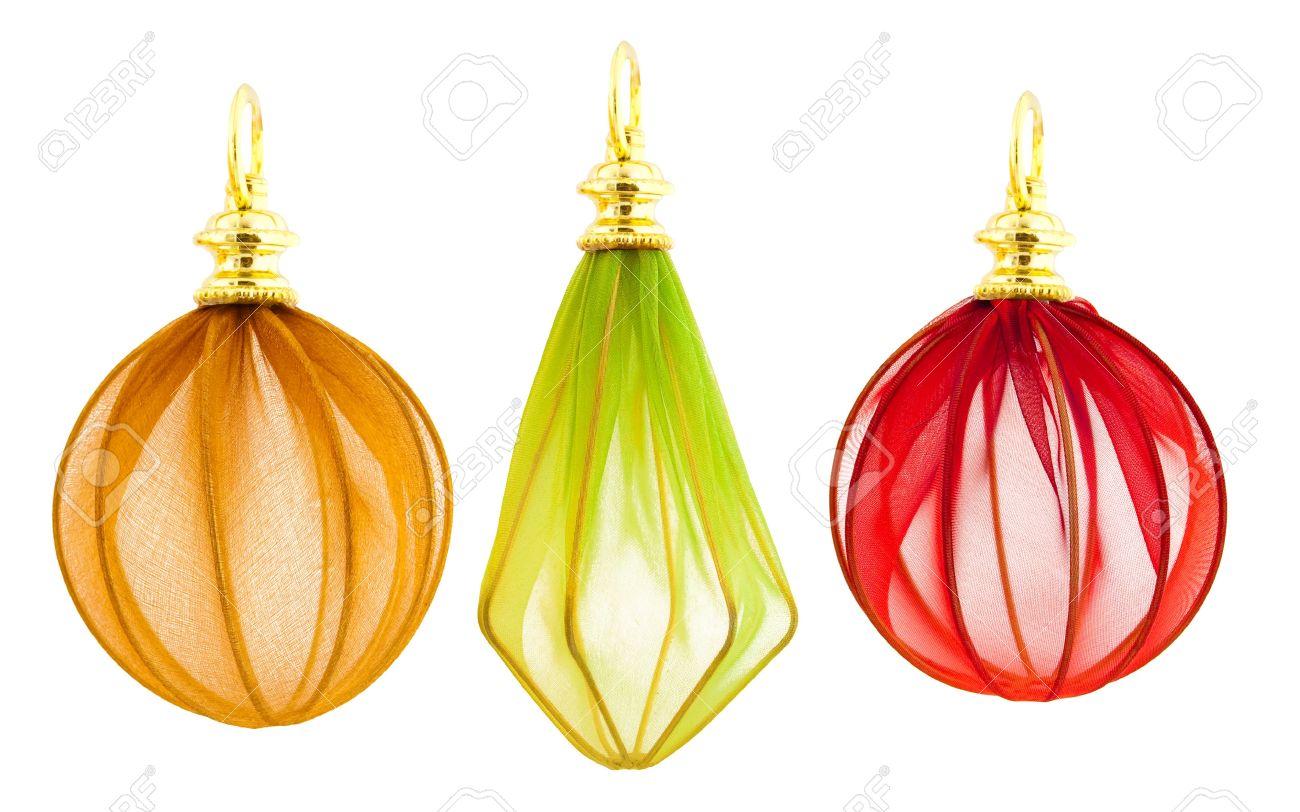 Elegant Handmade Christmas Ornaments.Set Of Elegant Handmade Christmas Decorations