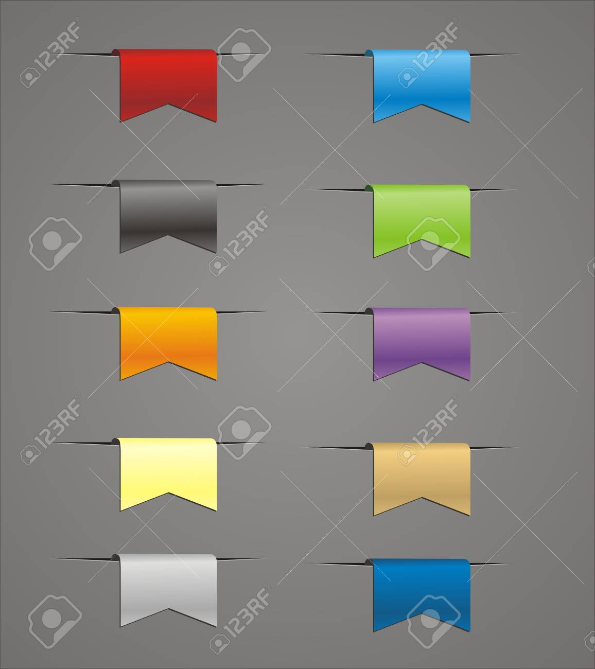 set of colorful ribbons Stock Vector - 19558709