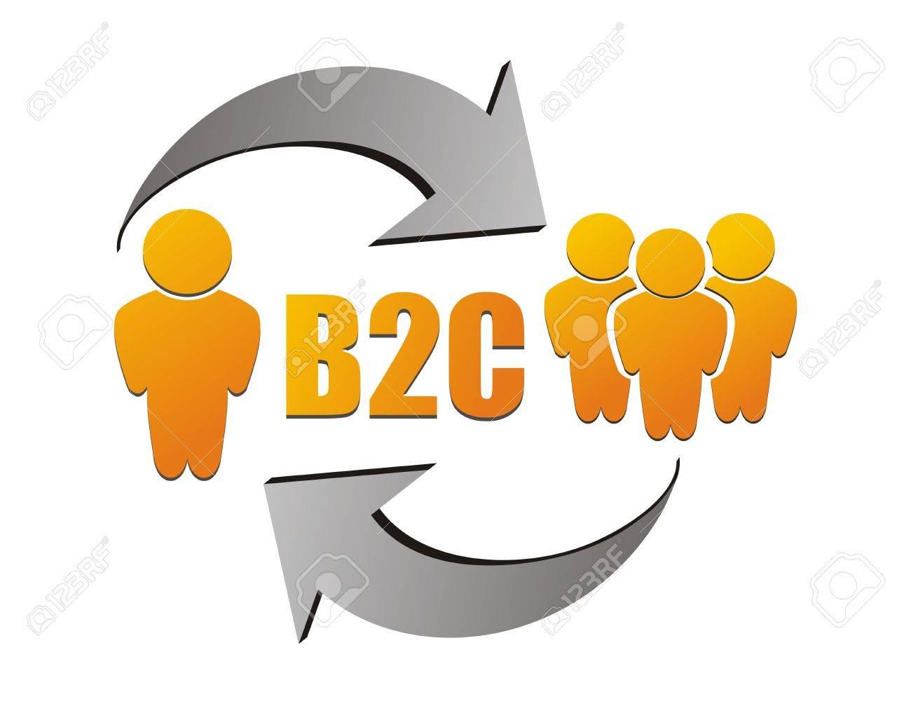 Business to customer , B2C illustration Stock Vector - 19558721