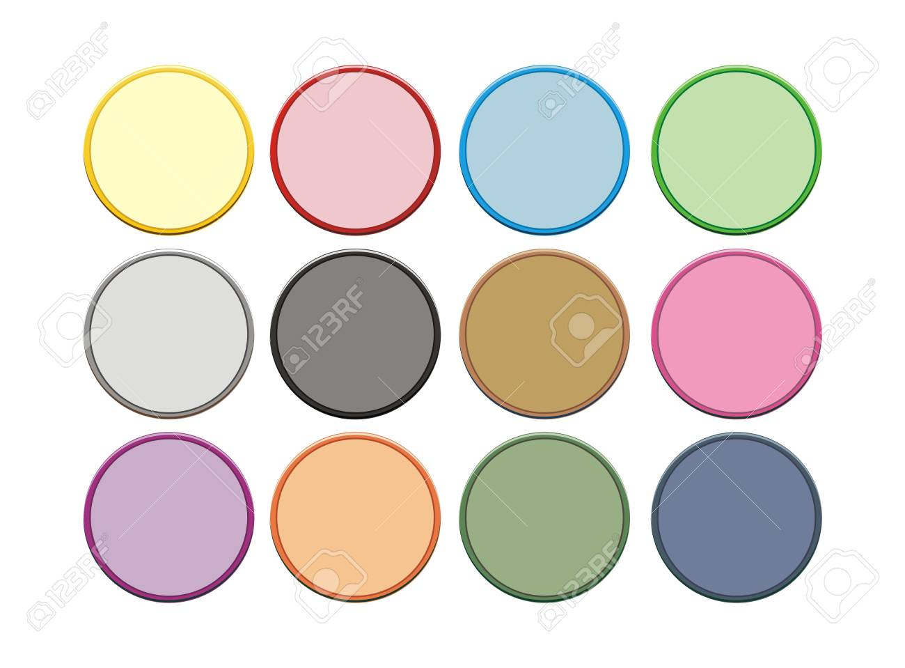 two colour circle button Stock Vector - 19761265