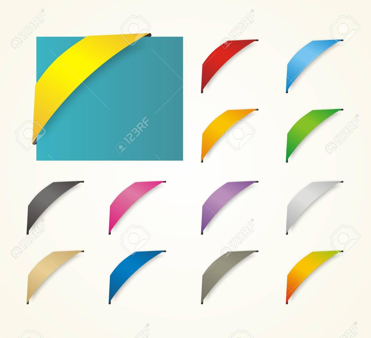 trendy ribbon decoration Stock Vector - 19761345