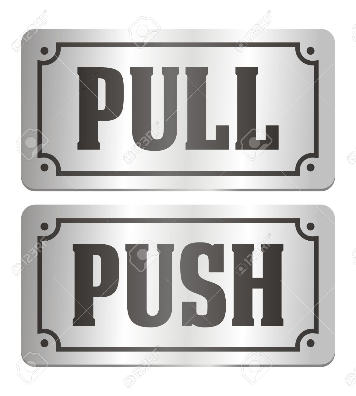 pull and push - door signs Stock Vector - 20237432  sc 1 st  123RF.com & Pull And Push - Door Signs Royalty Free Cliparts Vectors And Stock ...