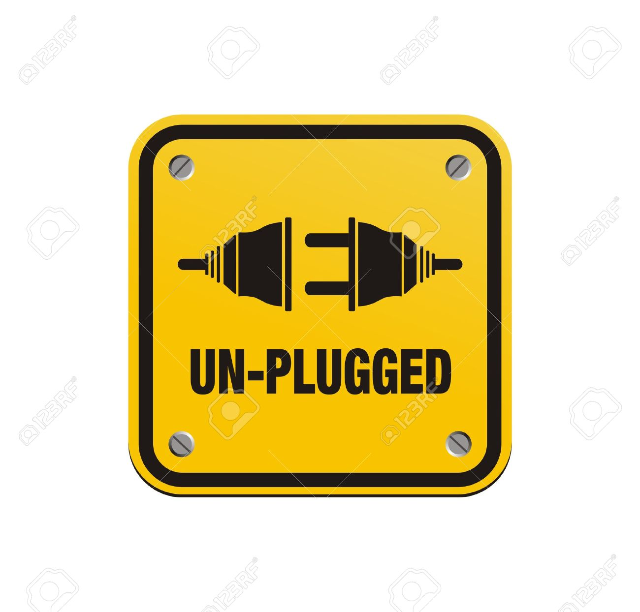 Unplugged Square Signs Royalty Free Cliparts, Vectors, And Stock ... for unplug icon  29jwn