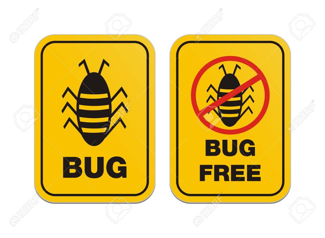 bug free - alert signs Stock Vector - 20363574