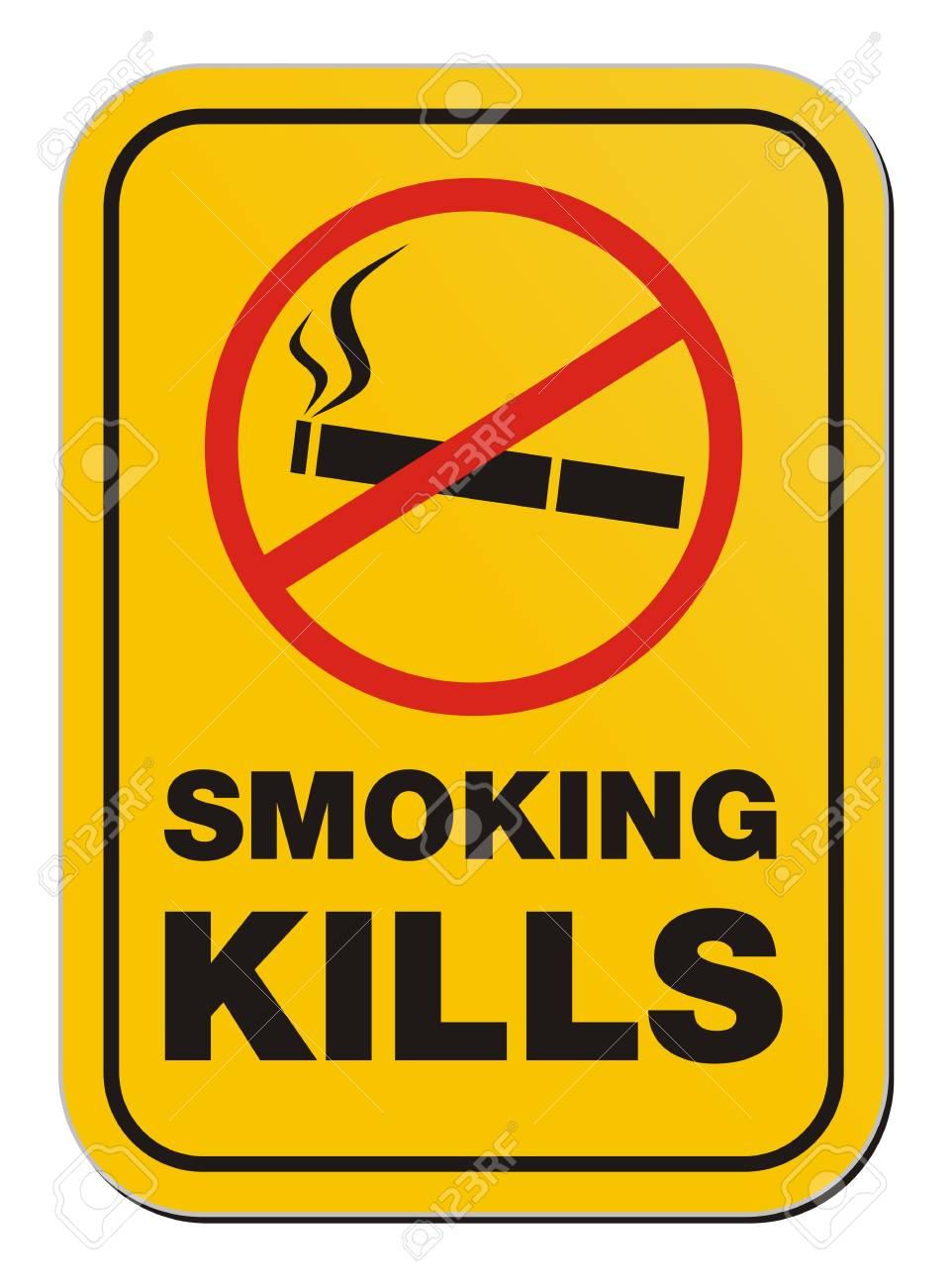 smoking kill sign Stock Vector - 20823357