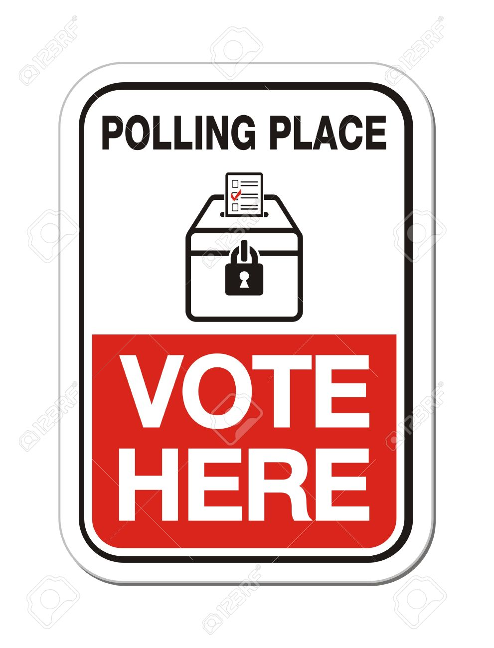 polling place vote here election sign royalty free cliparts