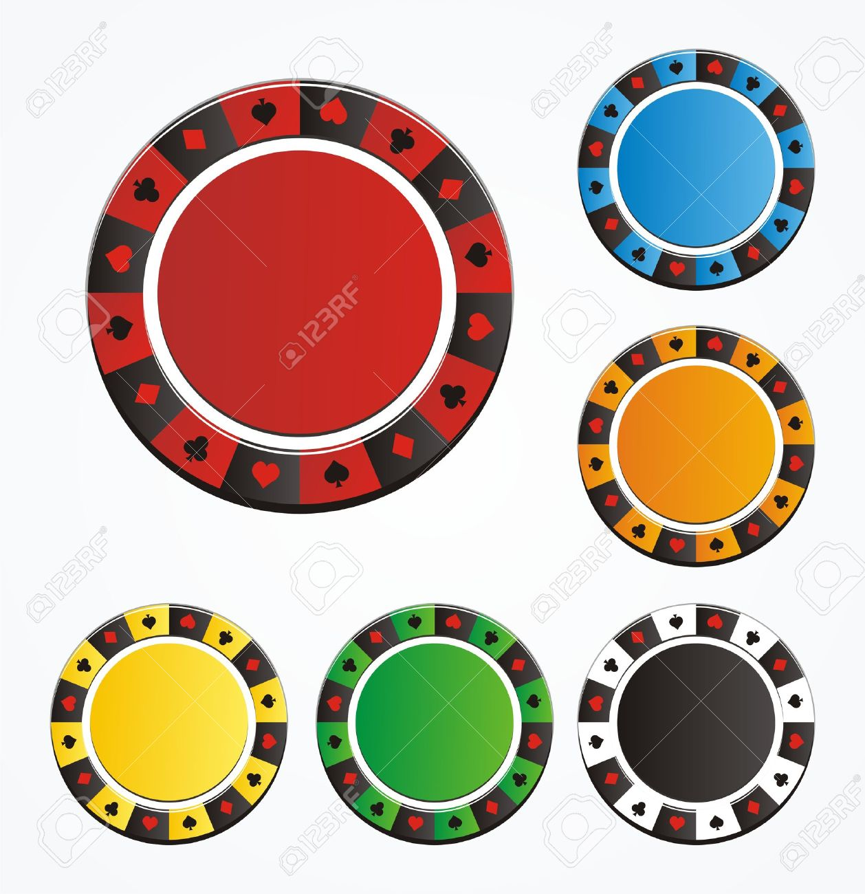 poker chip vector sets royalty free cliparts vectors and stock rh 123rf com poker chip stack vector poker chip vector image