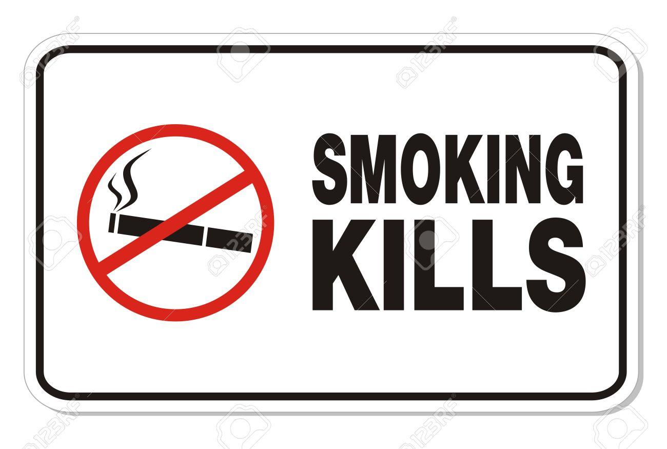 Smoking Kills Concept Male Smoking View Stock Illustration ...