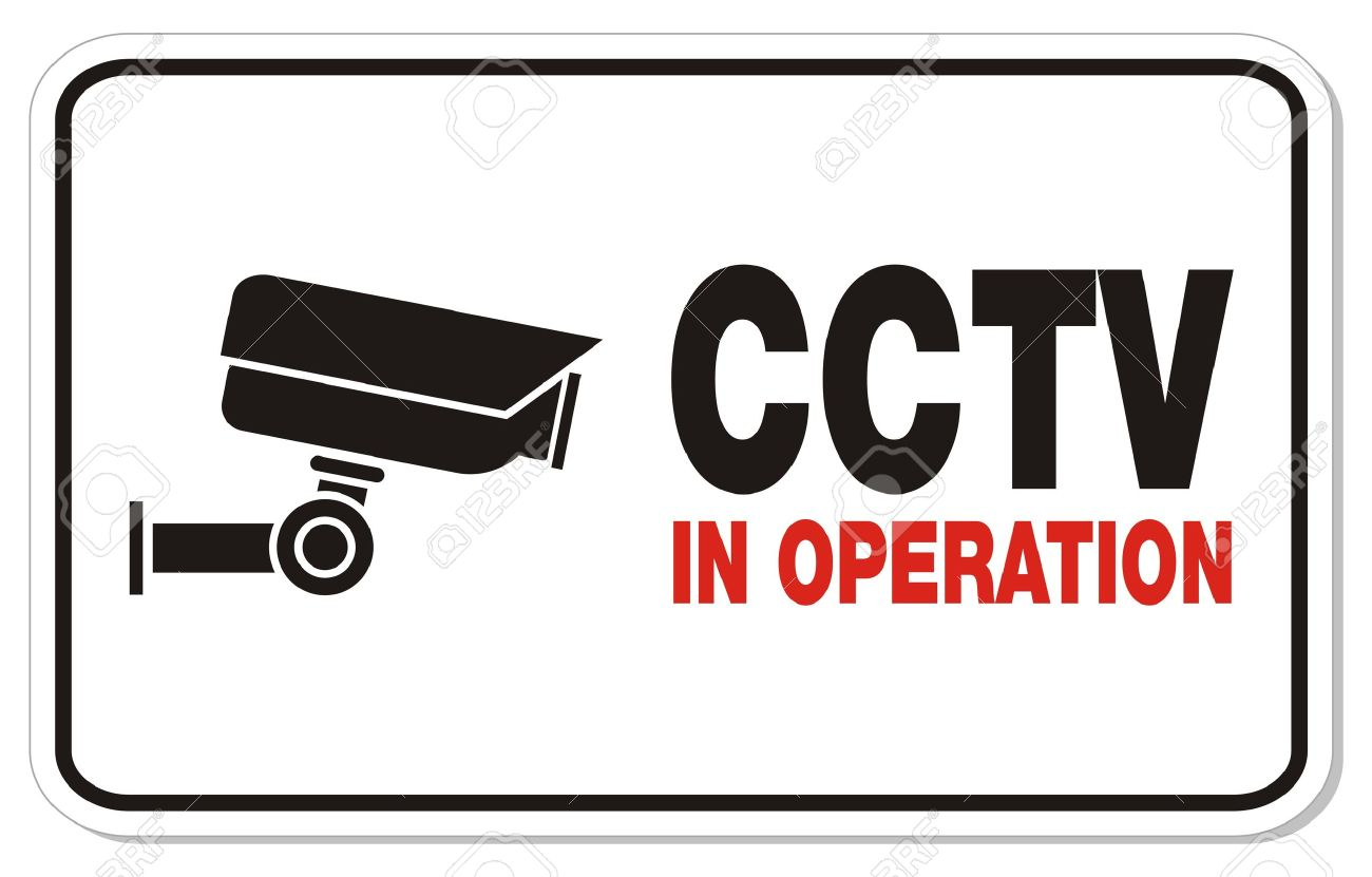 CCTV in operation - rectangle sign Stock Vector - 22372233