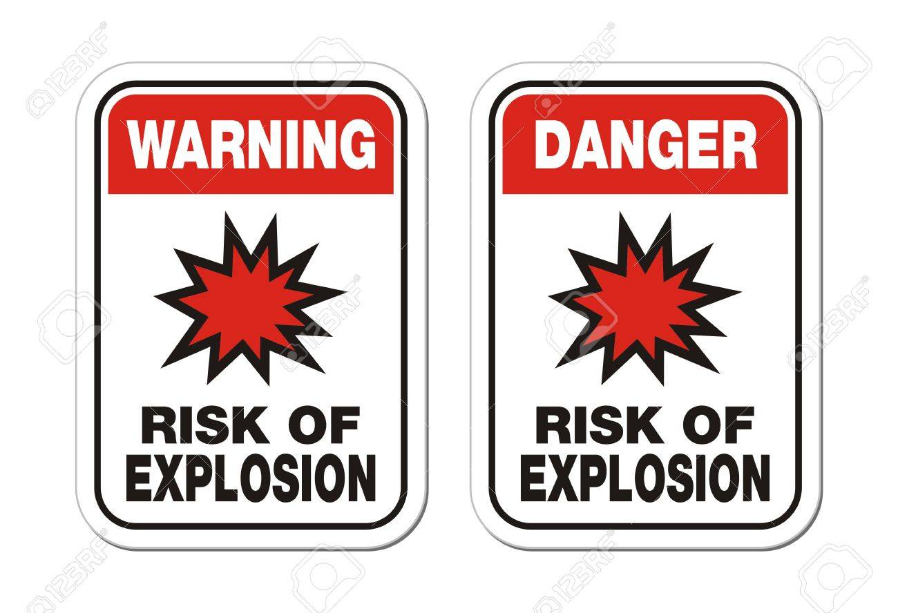 warning and danger risk of explosion sign Stock Vector - 24062122