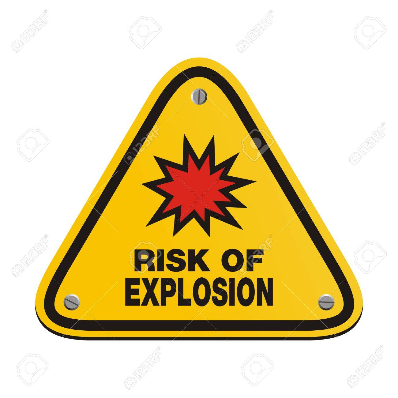 risk of explosion - triangle sign Stock Vector - 24062121