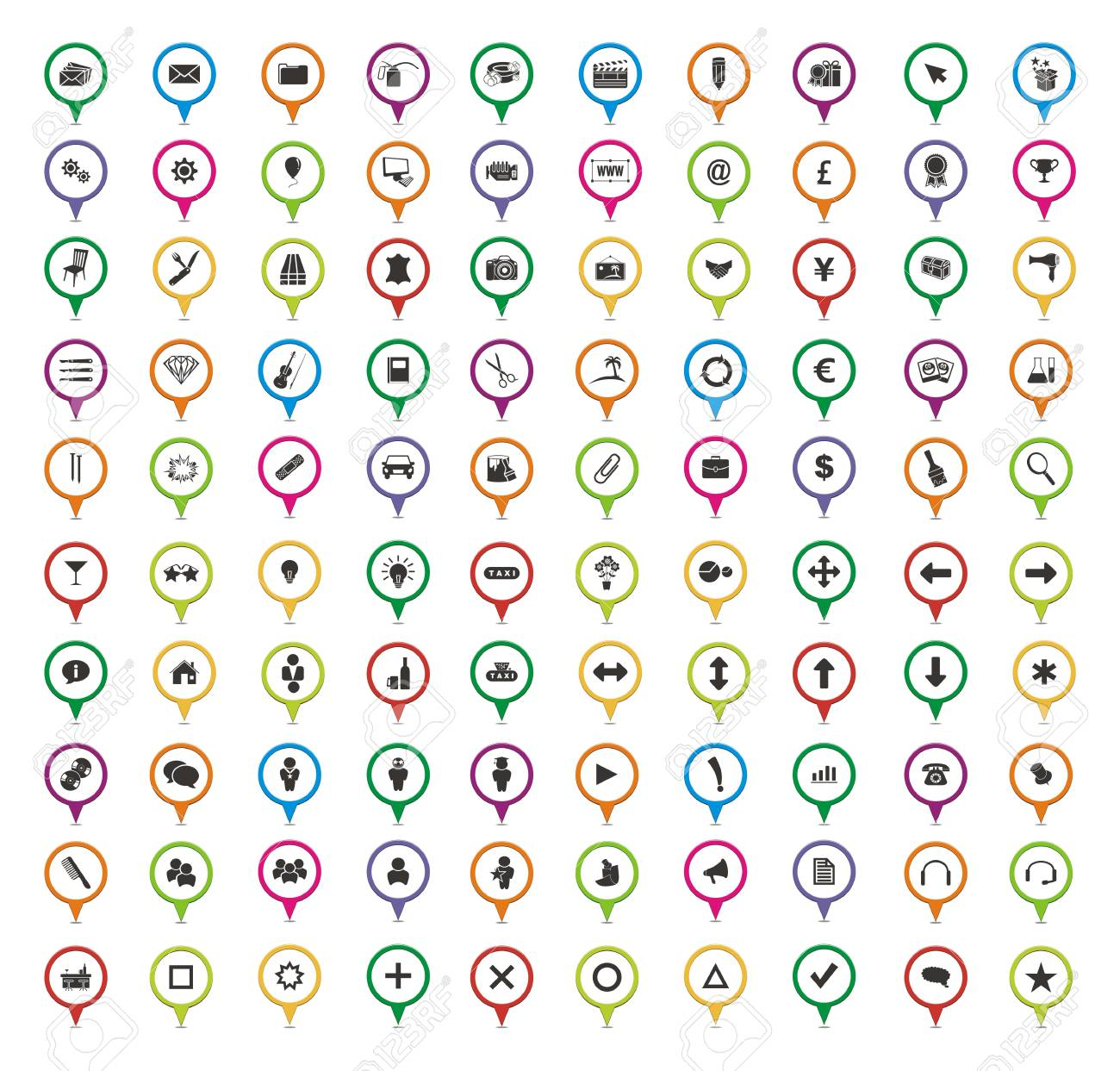 100 pointer sets Stock Vector - 24543159