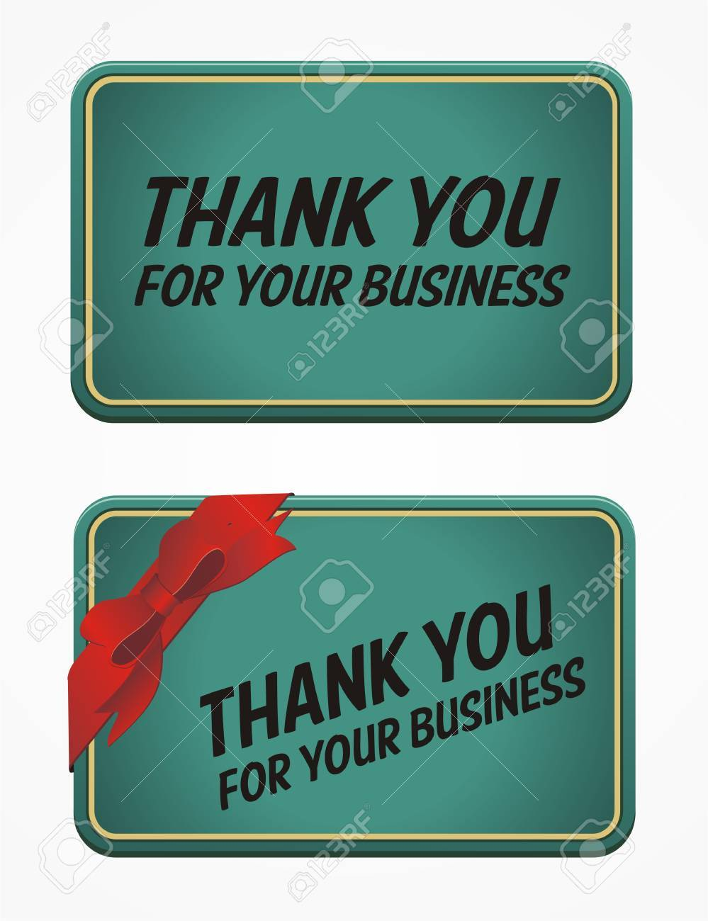 Thank You For Your Business Card Royalty Free Cliparts, Vectors, And ...