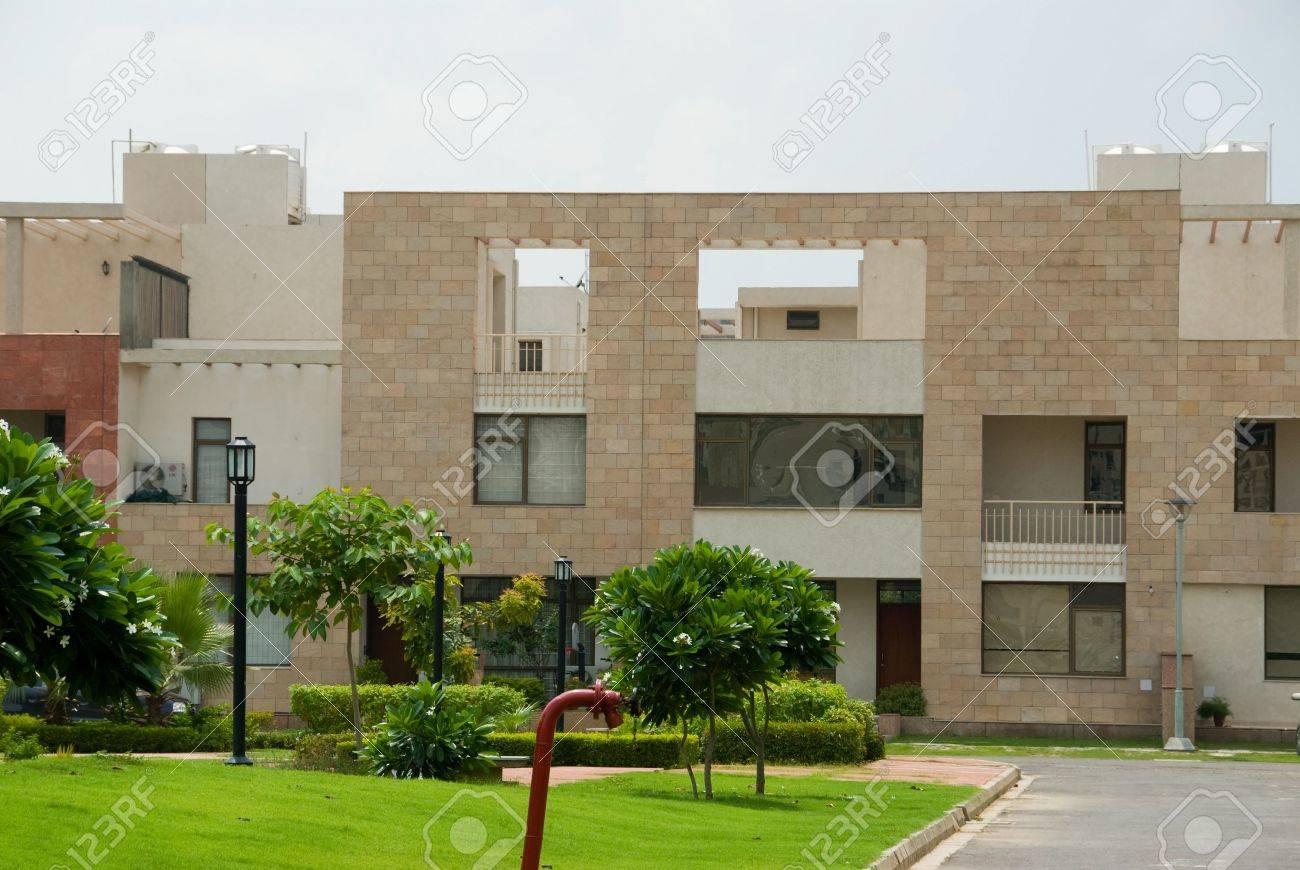 Exterior of modern luxury villas stock photo 6080203
