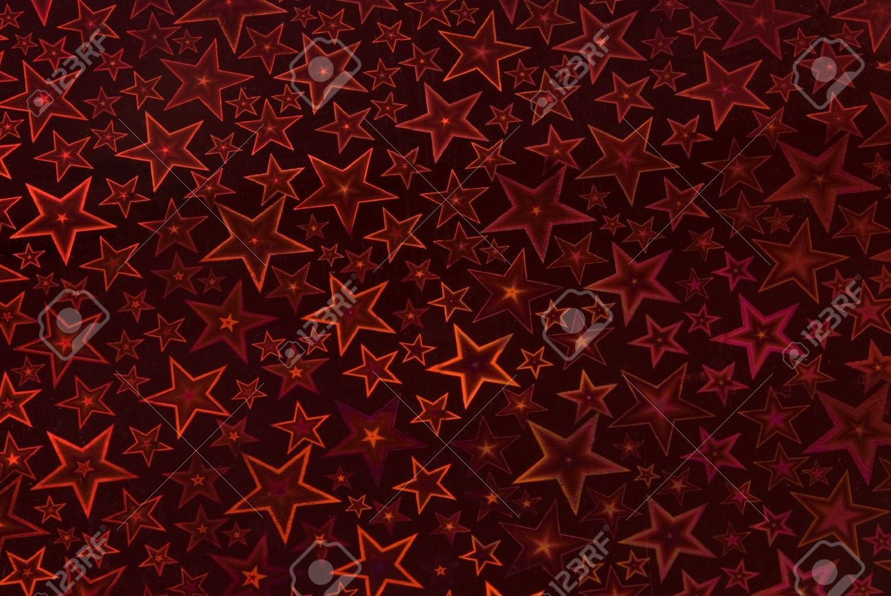 Starry night background - in dark red Stock Photo - 10787839
