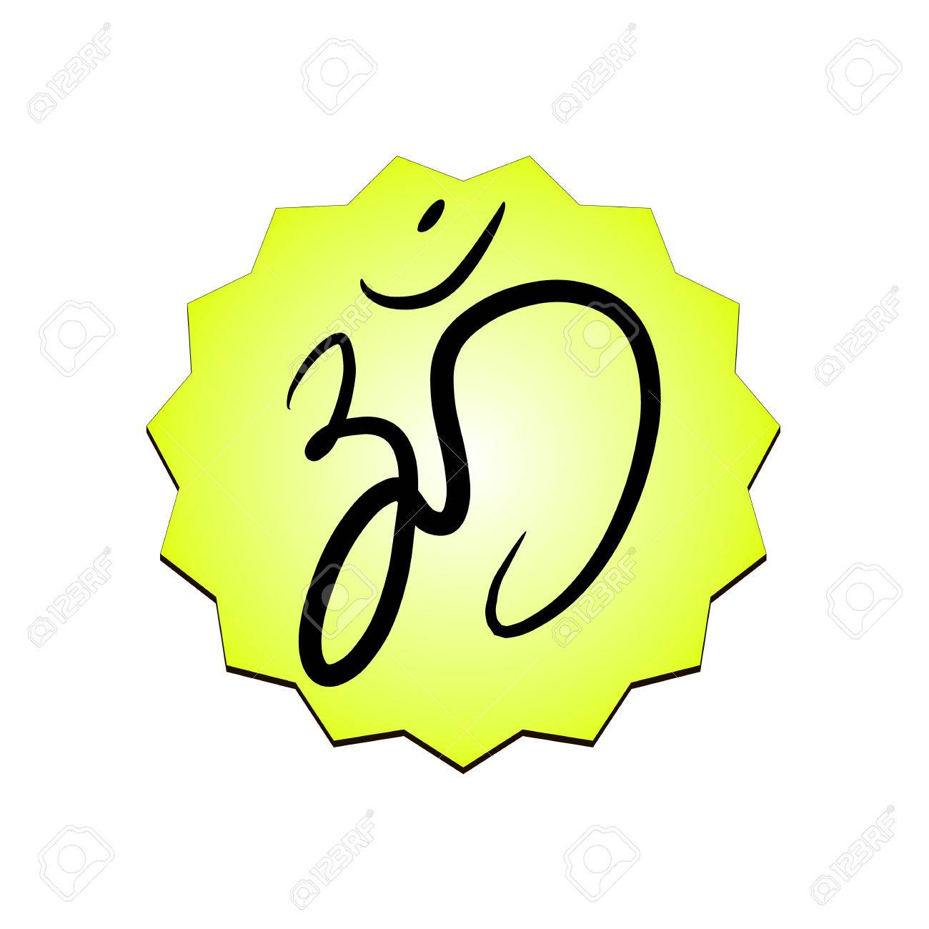 Om Sign Painted By Hand The Sacred Symbol In Buddhism And Hinduism
