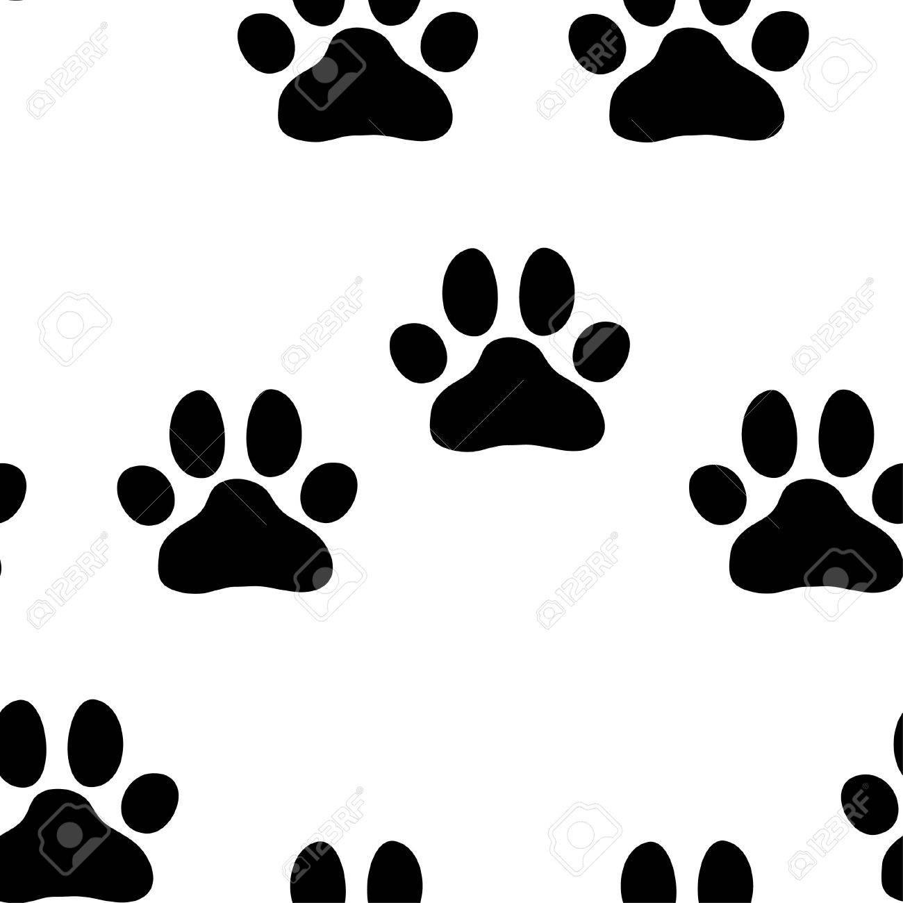 足の犬パターン 動物園の印刷用イラストのイラスト素材 ベクタ Image 4657